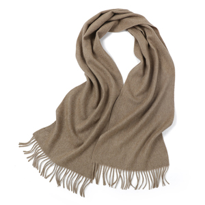 Padded warm shawl pure color 100% cashmere scarf