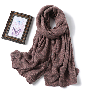 Winter knitted shawl pure color warm cashmere scarf