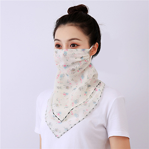 Floral print dustproof chiffon scarf wholesale