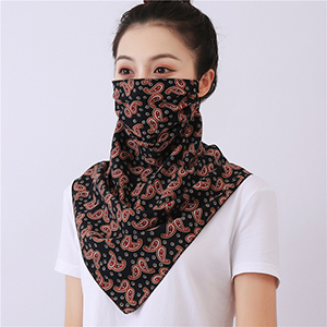 Double layer chiffon hanging ear mask scarf wholesale