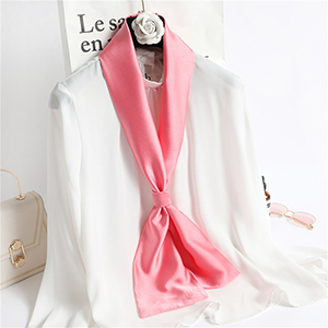 Wholesale long solid color shawl double silk scarf