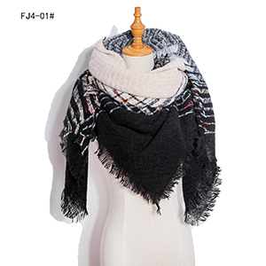 Winter plaid gradient warm large square scarf wholesale