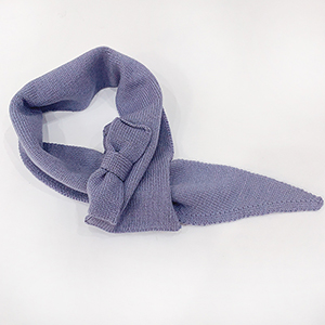 Pure color bow triangle scarf wholesale