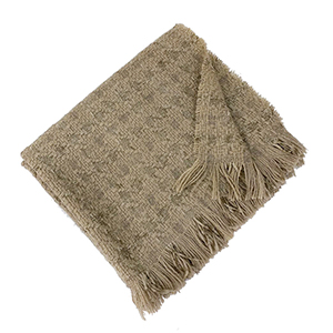 Fringe knitted retro plaid scarf wholesale