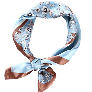 Wholesale floral print silk square scarf
