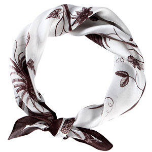 Plant pattern printing silk square scarf wholesale