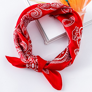 Wholesale cashew pattern red silk square scarf