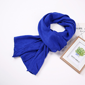Pure color curled cashmere scarf wholesale