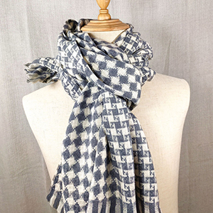 Winter chain pattern plaid cashmere scarf