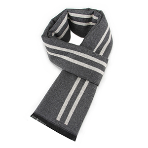 Men winter warm thick plaid cashmere scarf