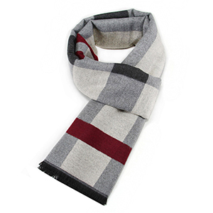 Winter warm checkered jacquard cashmere scarf