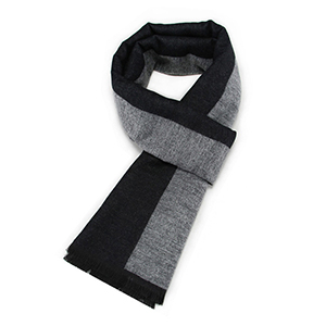 Men solid color winter cashmere jacquard scarf