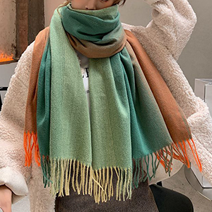 Ladies long gradient cashmere scarf wholesale