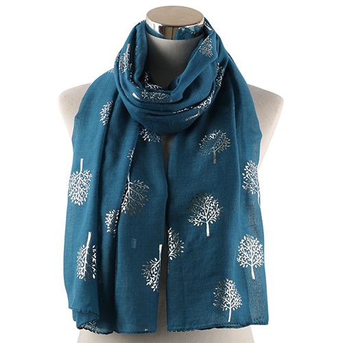 Pure color camphor tree decoration scarf