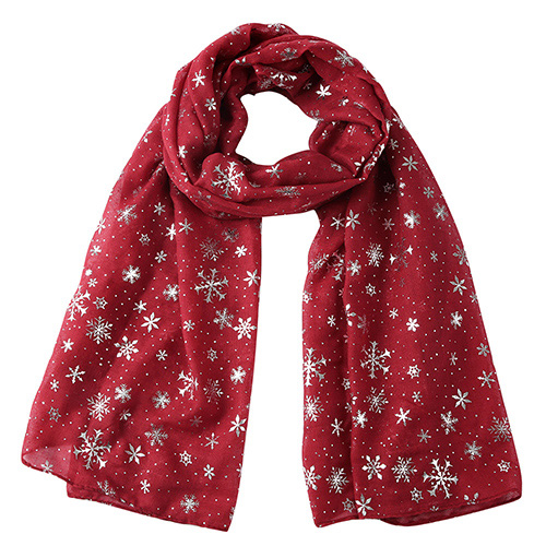2020 snowflake polka dot silk scarf wholesale