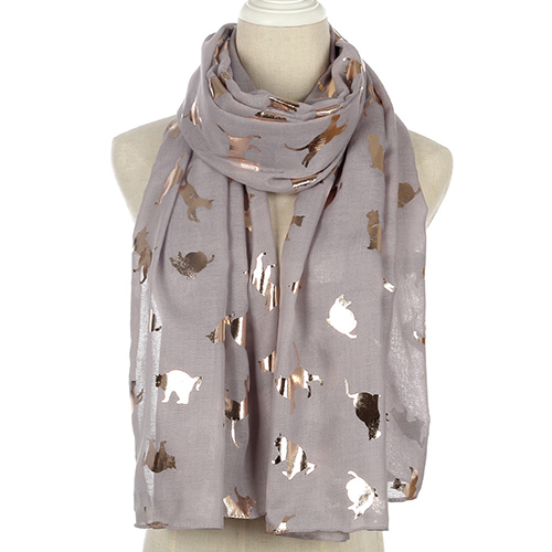 Wholesale animal print polyester scarf for women