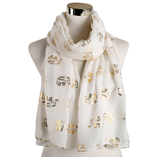 Animal rose bronzing warm scarf for sale