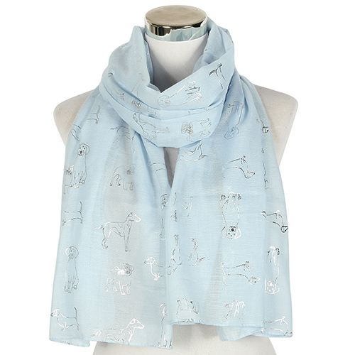 Jacquard fashion dog pattern scarf wholesale