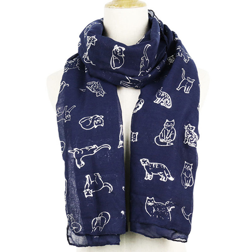Wholesale cat hot silver warm scarf china