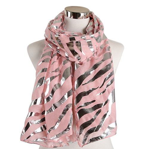 Wholesale zebra print hot stamping scarf for women