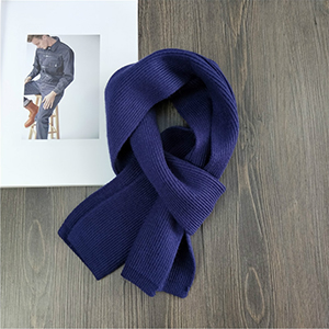 Knitted double sided solid color warm scarf