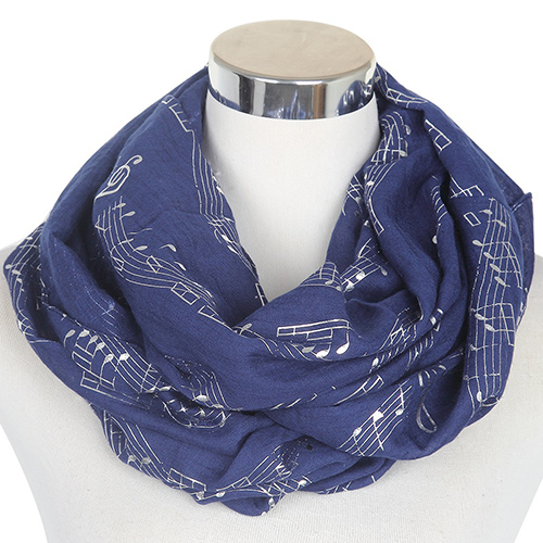 Music note bronzing scarf wholesale for sale
