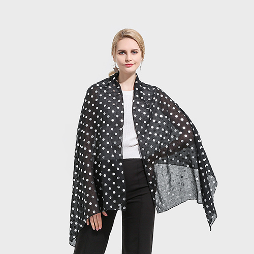 Metal dot shawl cotton scarf wholesale