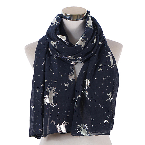 2020 unicorn cotton linen scarf wholesale