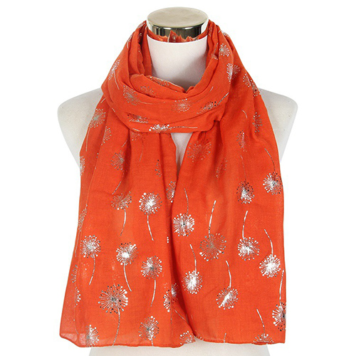 Wholesale solid color dandelion warm scarves