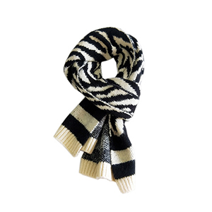 Winter striped knitted warm scarf wholesale