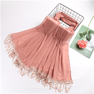 China wholesale lace tassel chiffon scarf