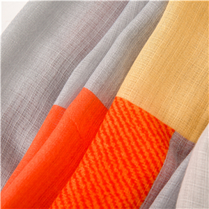 Wholesale orange gray square graffiti cheap scarf