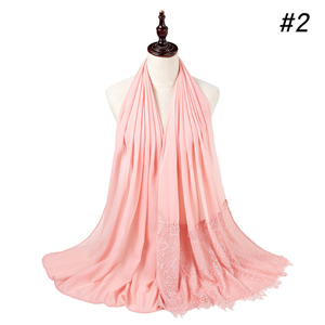 China wholesale chiffon lace scarf