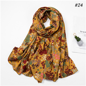 China wholesale chiffon print scarf
