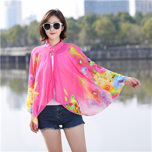 Chiffon printed scarf cheap from China