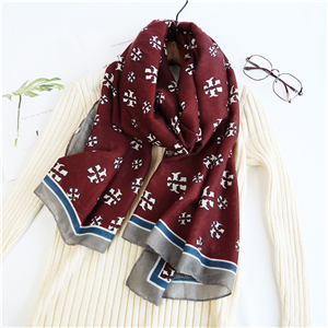 Wholesale geometric pattern printing cheap scarf