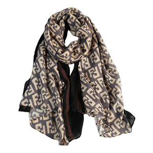 China wholesale letter cotton linen scarf