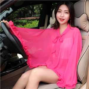 Wholesale solid color lotus leaf sun shawl