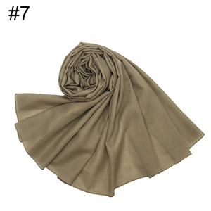 Wholesale solid color cotton muslim scarf