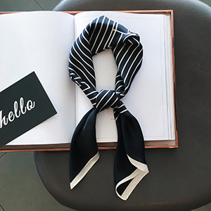 Black and white striped scarf wholesale square scarf