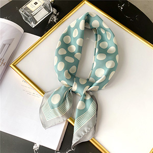 Polka dot silk scarf sunscreen shawl small square