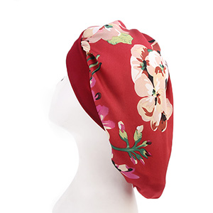 Muslim printed silk head scarf