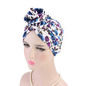 Cotton pan flower turban hat