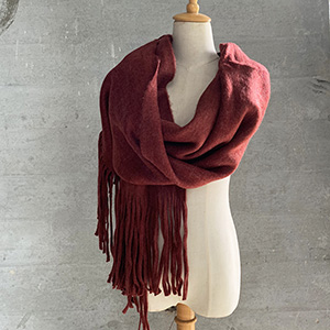 Pure color thick warm scarf