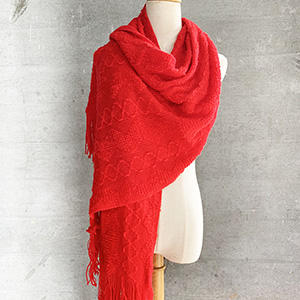 Warm wool knitted scarf