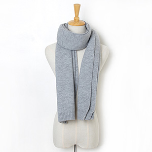 Knitted wool solid color scarf