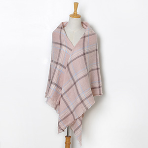 Ladies cashmere fringed scarf