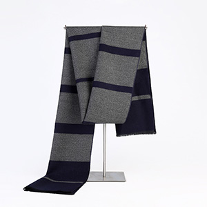 Mens cashmere striped warm scarf