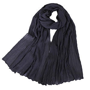 Ladies Pearl Chiffon Pleated Headscarf