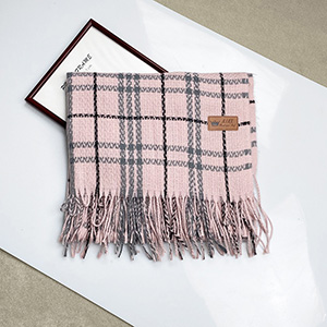 Striped cashmere fringed scarf wholesale